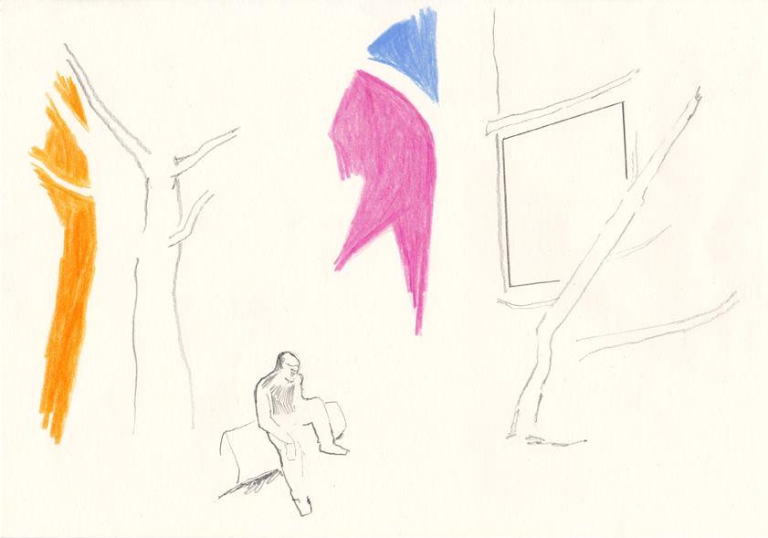 o.t., 20,8 x 29,5 cm, farbstift /bleistift/papier, 2014