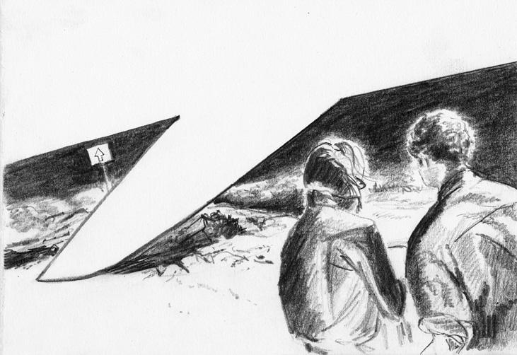 o.t., 18 x 26 cm, bleistift/papier, 2012