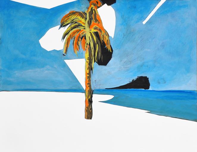 raum als anlass (seasight) (2), acryl/gouache/papier/papier, 36,5 x 47 cm, 2015
