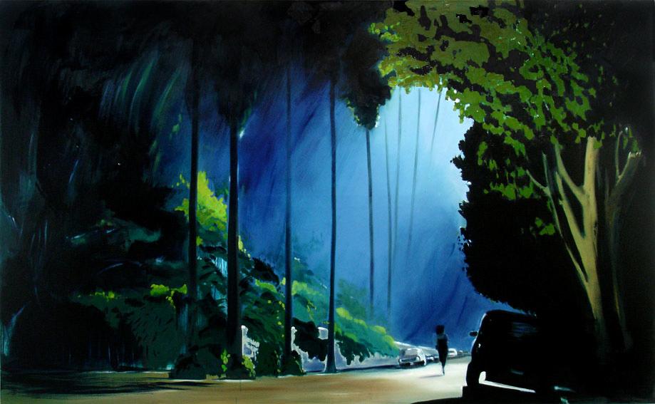 Soft Panic, 140 x 230 cm, Öl/Nessel, 2008 (v)