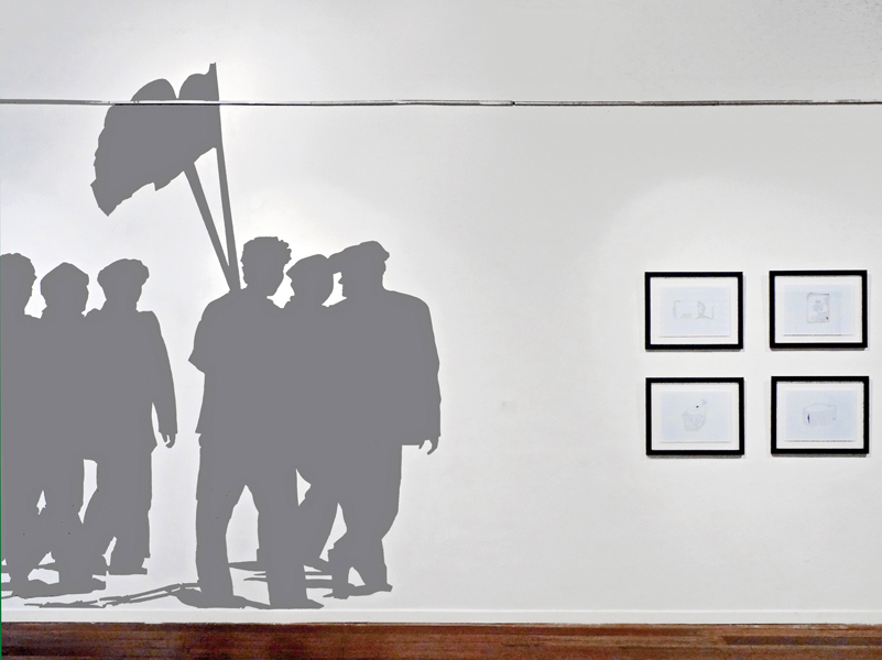 SOMNAMBULANT, Acrylfarbe, Wandbild, Ausstellungsbeteiligung 'Kuala Lumpur Dreaming', Annexe Gallery, Kuala Lumpur, Malaysia, 2010