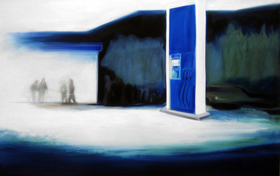 Tankstelle (11), 100 x 160 cm, Öl/N, 2006 (v)