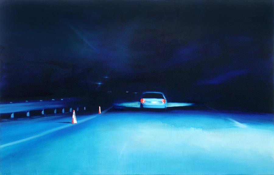 The Dark Way (2), 140 x 220 cm, Öl/Nessel, 2008 (v)