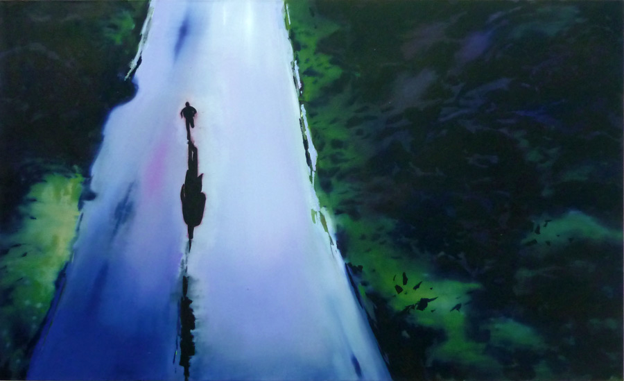 Überlaufer / Defector, 85 x 140 cm, Öl/N, 2010