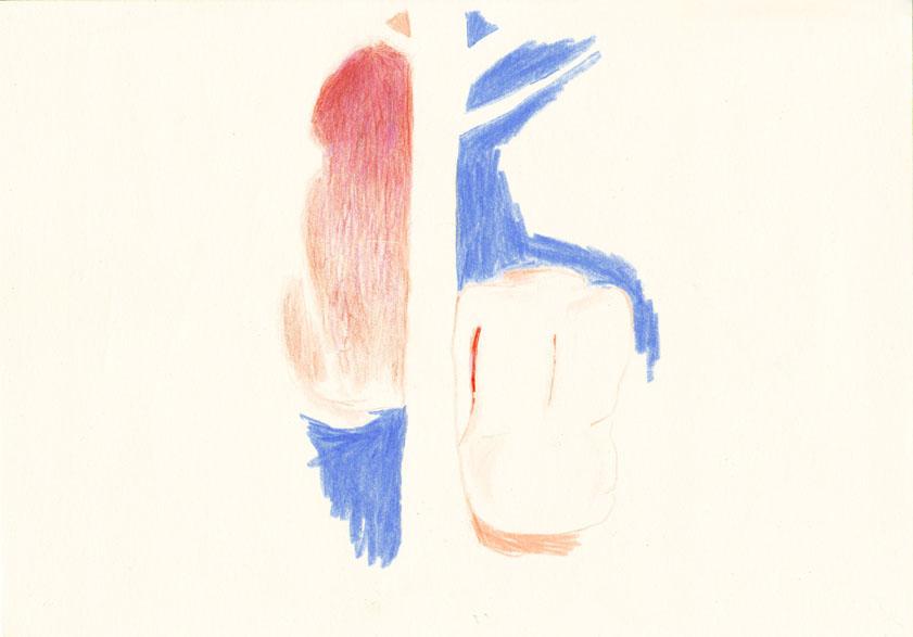 o.t., 20,8 x 29,5 cm, farbstift/ papier, 2016