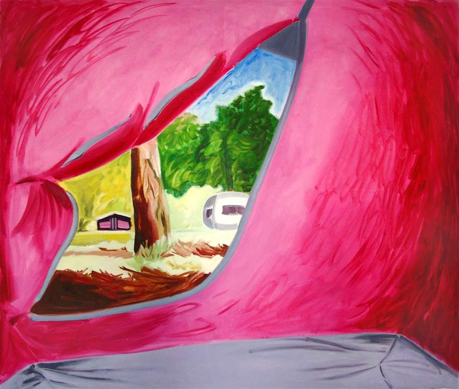 Zelt 1, 170 x 200 cm, Öl/N, 2000