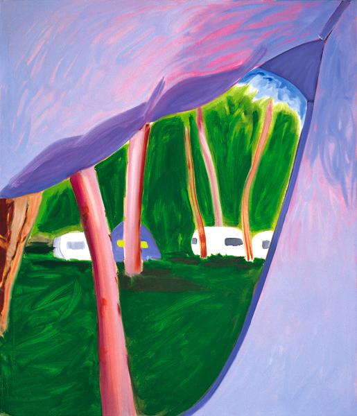 Zelt 2, 150 x 130 cm, Öl/N, 2000 (v)