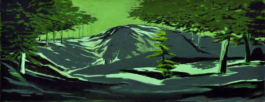 Der Zustand (Wald) (3), 70 x 180 cm, Öl/N, 2006