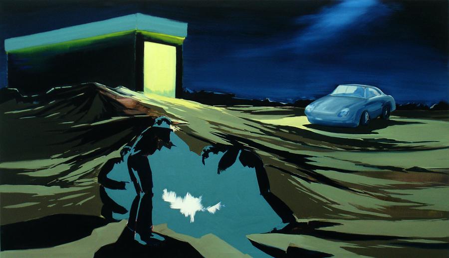 Der Zustand (Licht), 130 x 220 cm Öl/N, 2007 (v)