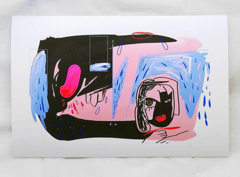 Fly me to the moon, (1 von 5), 21 x 30 cm, fine art print / Hahnemühle Papier weiss 300 gr, 2020