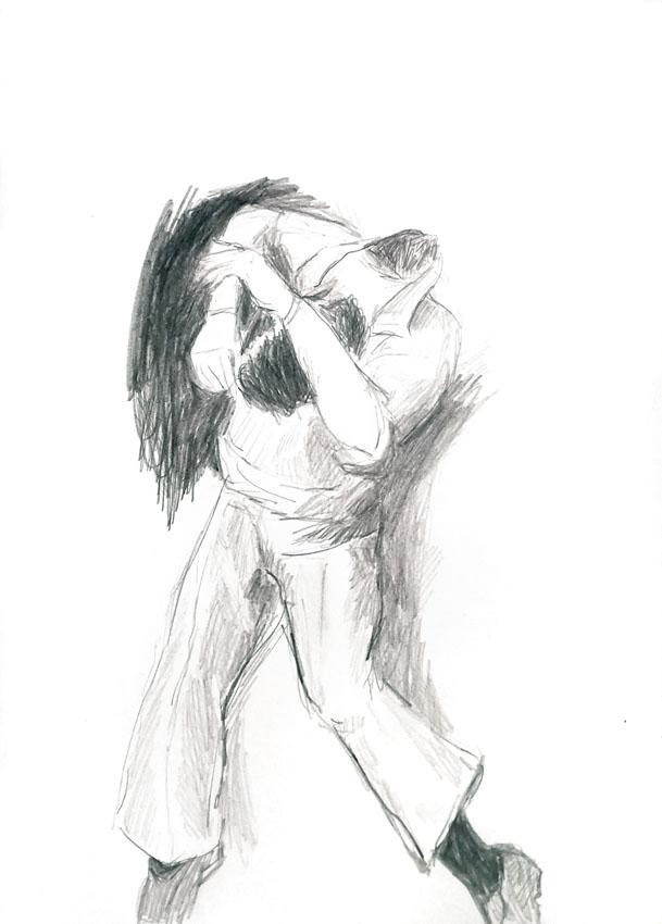 The encapsuled tenderness, 29,5 x 20,8 cm, pencil/paper, 2021