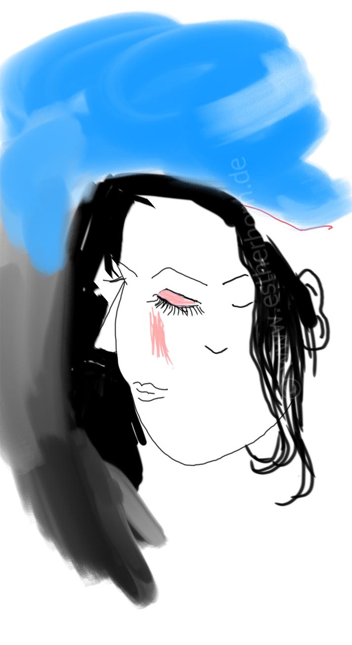 Sleeping in my shadow, printversion various dimensions, digital drawing, 2020